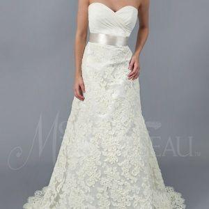 Modern Trousseau Ivory Sky wedding gown